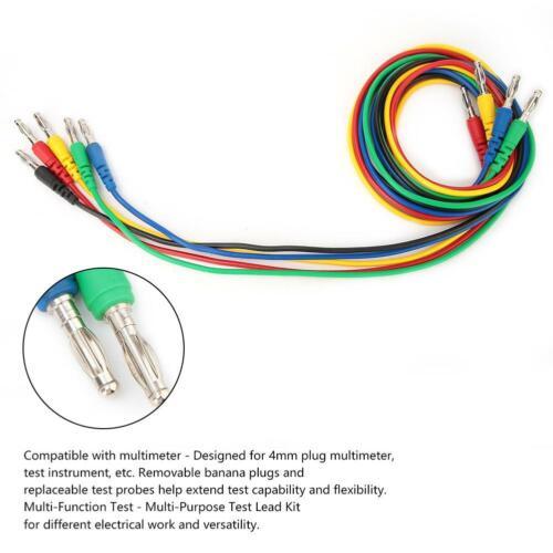 5PCS 4mm Bananenstecker Multimeter Kabel Messleitung Prüfkabel Messgerät