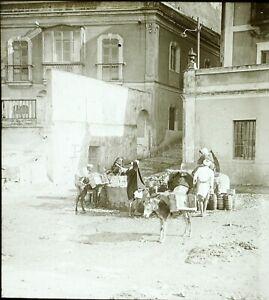 MAGHREB-Maroc-Algerie-Tunisie-c1900-Photo-Stereo-Vintage-Plaque-Verre-VR8L3n3