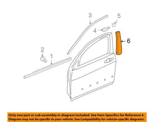 Acura HONDA OEM 04-08 TL Front Door-Applique Window Trim Right 72430SEPA01ZA