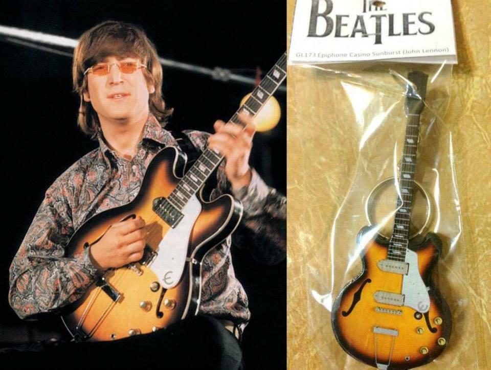 Keychain Guitar Epiphone Casino John Lennon The Beatles For Sale Online Ebay