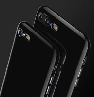 Ultra thin JET BLACK Case shockproof Silicone TPU Cover for Apple iPhone