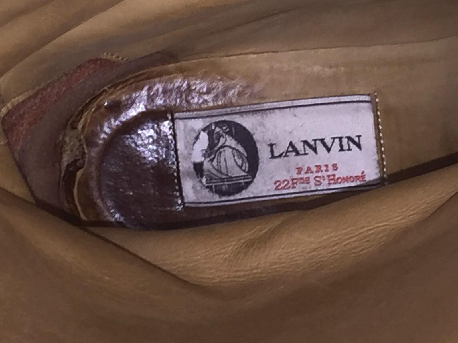 modelo más vendido de la marca Original lanvin Paris botas us piel botas Leather burdeo us botas 6 e0b4b0