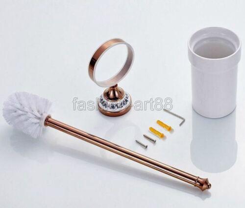 Accesorio De Baño De Cobre Oro Rosa Baño de pared soporte para pinceles Set fba387