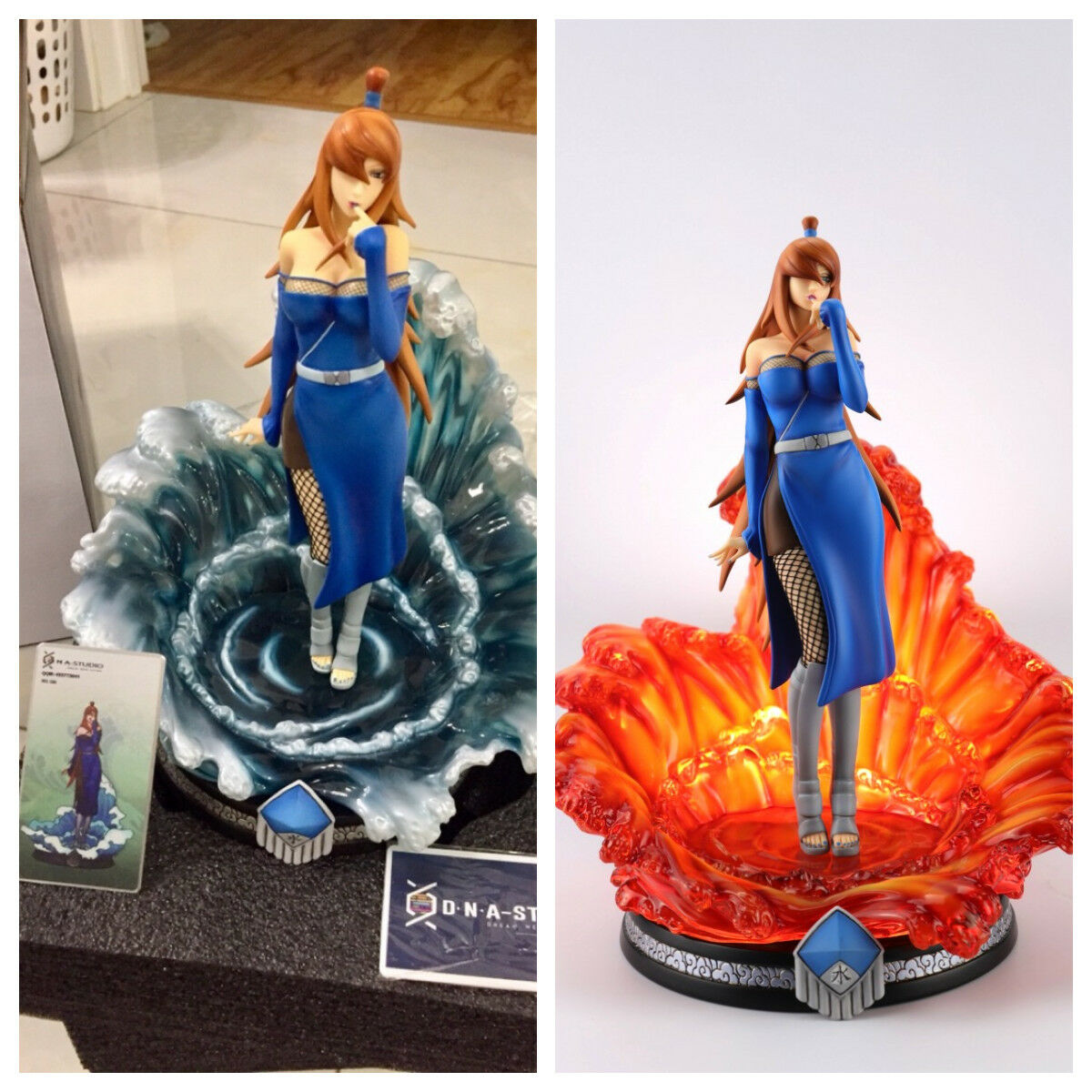 Naruto figure gokage cinq Kage Terumi Niki Mei mizukage Résine Statue Figure deux couleur