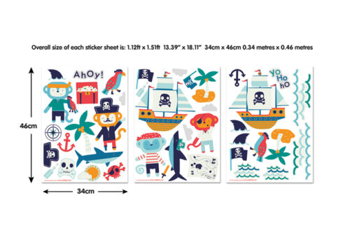 Pirate Wall Stickers for Kids bedrooms Walltastic