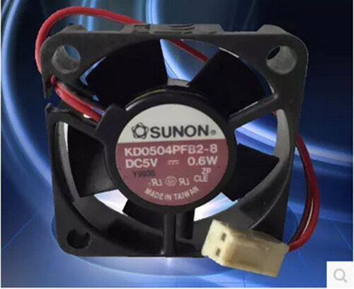 SUNON KD0504PFB2-8 40x40x10mm DC 5V 0.6W Cooling Fan 2pin with Connector 1pc