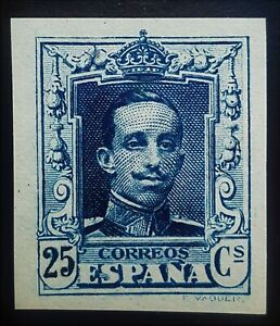 SPAIN-1922-ALFONXO-XIII-25Cs-Ed-NE-23s-w-SLAB-CERT-C-M-F-MNH-CV-1200