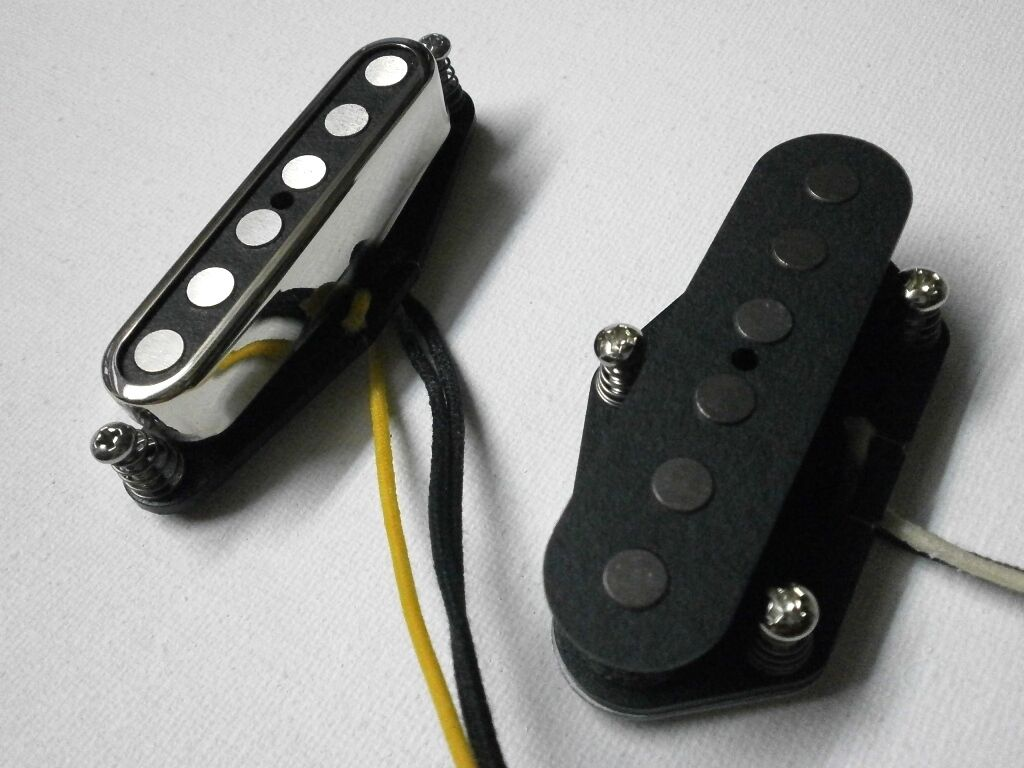 Telecaster SET A2 5 Bridge Neck .250  HandWound FAT Quarter Pound Guitar Pickups