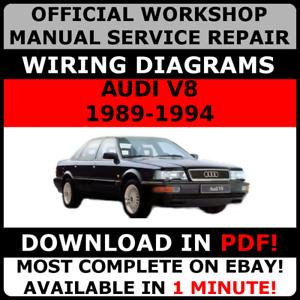official workshop service repair manual audi v8 1989 1994 wiring rh ebay co uk audi v8 owners manual audi v8 service manual