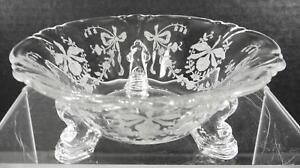 Antique-Heisey-Mint-Dish-Orchid-Pattern