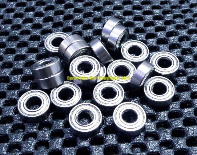 Metal Double Shielded Ball Bearing Bearings 4*13*5 10 Pcs 624ZZ 4x13x5 mm