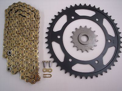 BMW F650 ST 1999 DID Gold X-Ring Chain and Sprocket Kit