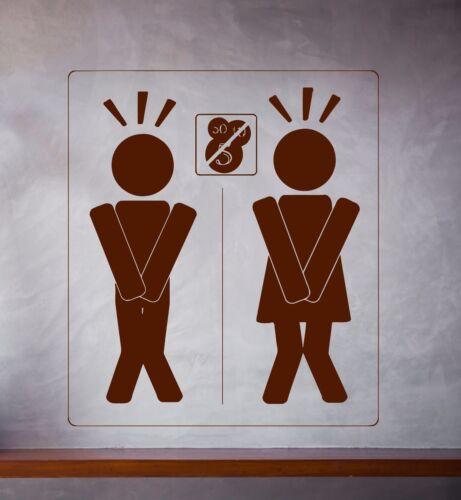 Details about  /Vinyl Decal Emblem Badge Hygienic Place Men Women Wall Sticker n604