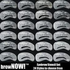 browNOW! Eyebrow STENCIL KIT Shaping Grooming Brow Make Up 24 Reusable Templates