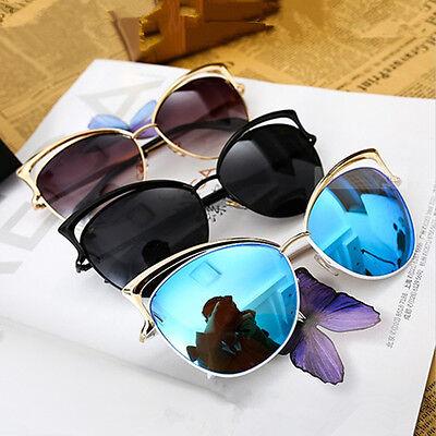 Women's Gold Cat Eye Sunglasses Retro Classic Designer Vintage Retro Sunglasses