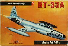 Hobby Craft 1:48 USAF RT-33A Recon Jet T-Bird Plastic Model Kit #1596U