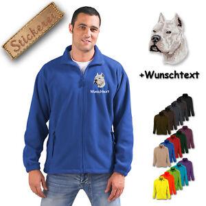 Fleece M2 Bestickt Wunschtext Pitt Hund Stickerei Terrier Jacke Bull Hrqw4HT