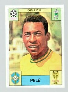 Panini-World-Cup-Story-Pele-Brazil-Mexico-1970-Football-Investment-Sticker-PSA