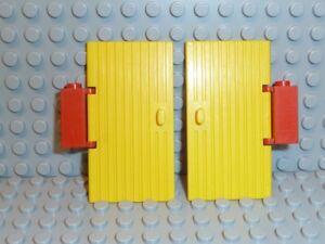 LEGO-Ritter-Stadt-2x-Tur-gelb-yellow-3644-1x4x6-aus-Set-368-F861