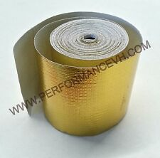 "2""x15' SELF ADHESIVE REFLECTIVE GOLD HEAT WRAP BARRIER TAPE 15 FEET ROLL"