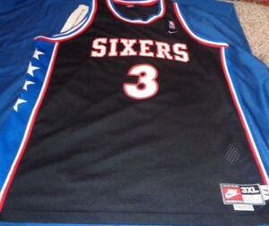 Nike Allen Iverson Philadelphia Sixers Jersey Retro 1977 Vintage 3xl Adult Ebay