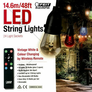 Feit 48ft 24 Led Rgbw Outdoor Weatherproof Color