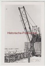 (F7321) Orig. Foto Baustelle der Firma Thosti, Aufbau eines Abraumbaggers 1940