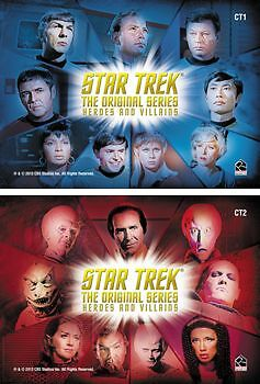 Star Trek TOS Heroes & Villains CT1 & CT2 Case Topper Chase Set