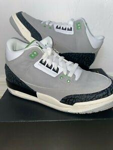 jordan 3 grey and green