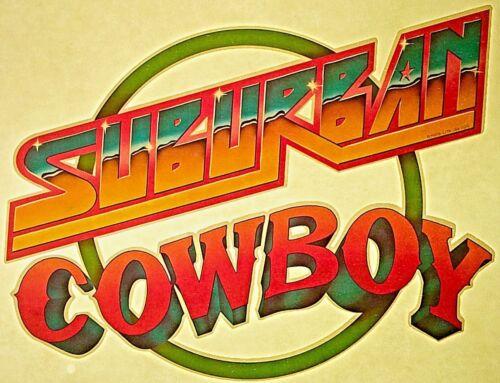 Original Suburban Cowboy Iron On Transfer
