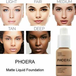 HOT-Liquid-Foundation-Long-Lasting-Brighten-Concealer-Coverage-Shade-Makeup-US