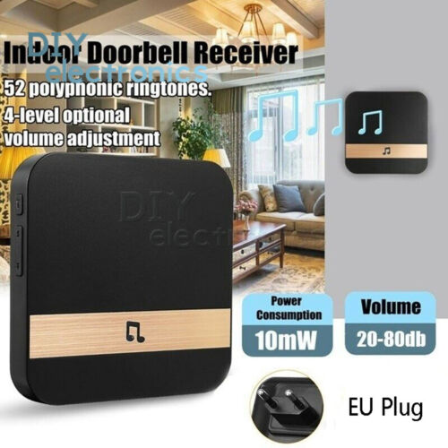 Home 433Mhz Chime Ding Dong Wireless WiFi Smart Door Bell Receiver US