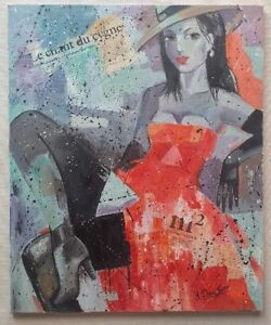 YURI-DENISSOV-b1962-large-original-signed-canvas-oil-painting-The-Woman-in-Red