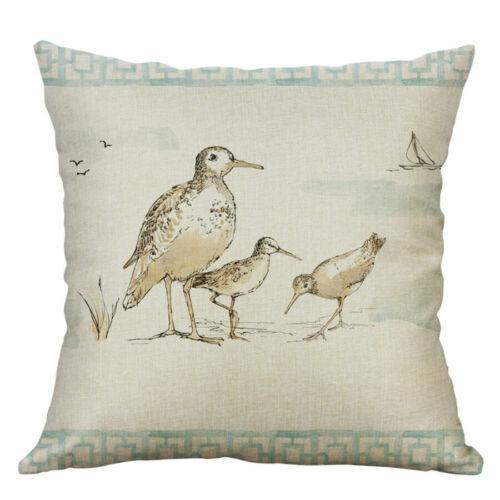 Bee Bird Linen Butterfly Decor 18/'/' Cover Home Case Throw Pillow Cotton Cushion