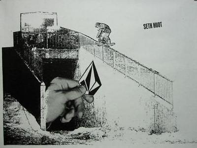 VOLCOM 2004 Bjorn Leines ROCKS snowboard promo poster Flawless NEW old stock