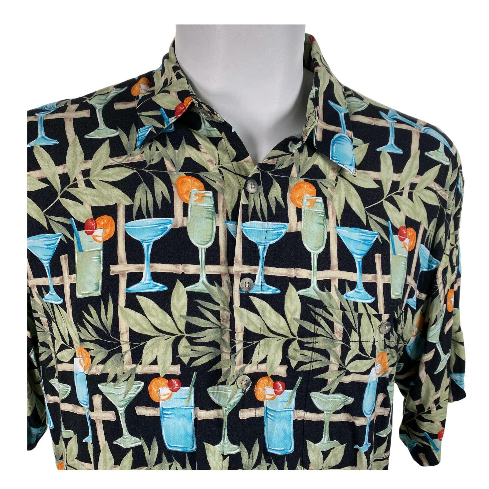 Vintage Van Huesen  Traditional style Aloha shirt M Sz