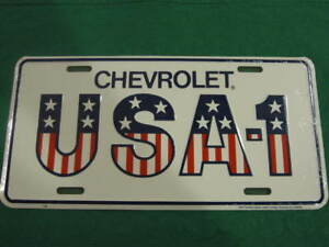 CHEVROLET-USA-1-LICENSE-PLATE-AMERICAN-FLAG-SIGN-L97