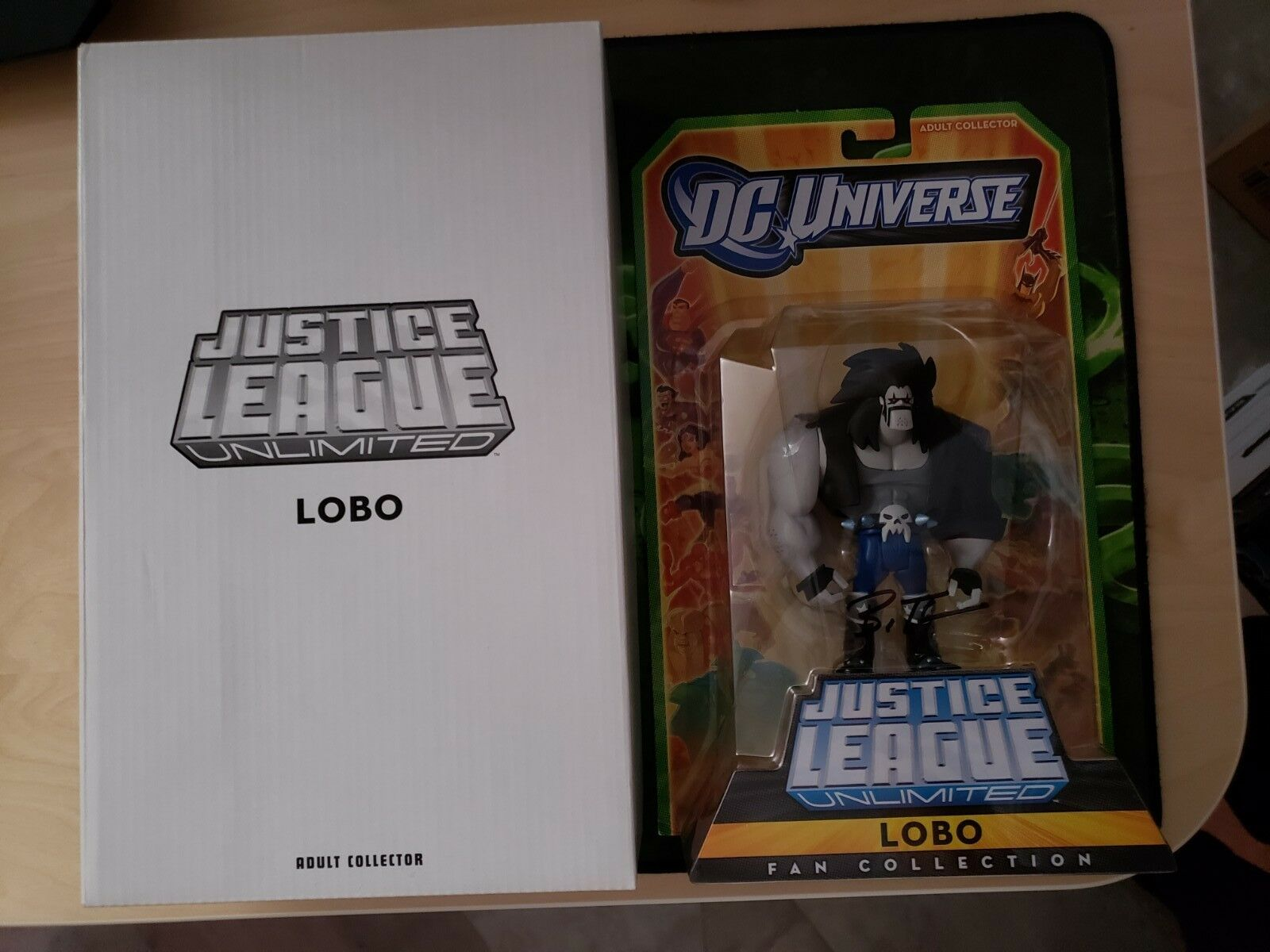 DC Universe Justice League Unlimited SDCC 2010 Exclusive Lobo Signed Bruce Timm