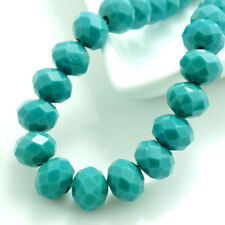 100pcs 4mm Blue jade Rondelle Faceted Crystal Glass Jade Porcelain Loose Beads!