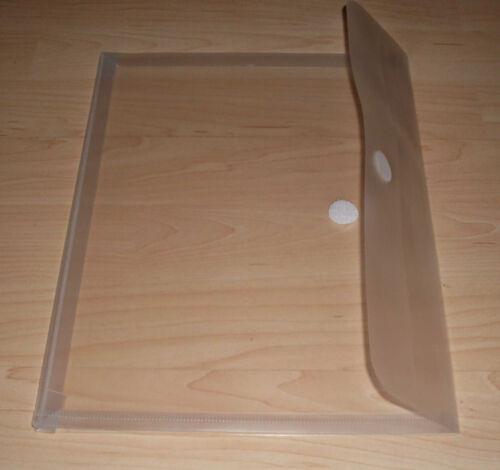 5 Dokumententaschen A4 transparent HFP 90761 für 200 Blatt mit Dehnfalte Neu