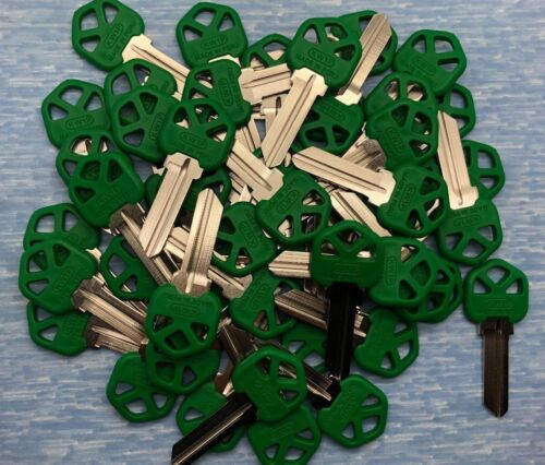 Green Plastic Head Residential Key Blanks for Locksmith 50 Pieces KW1