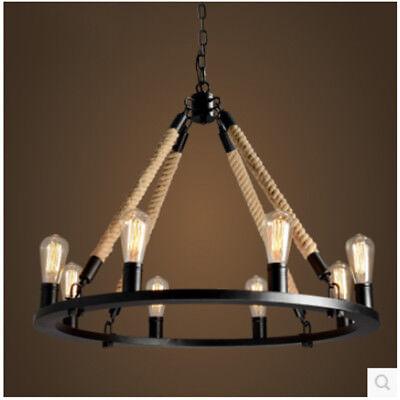 Hemp Rope Chandelier Pendant Light Restoration Hardware Lamp Ceiling Fixtures Ebay