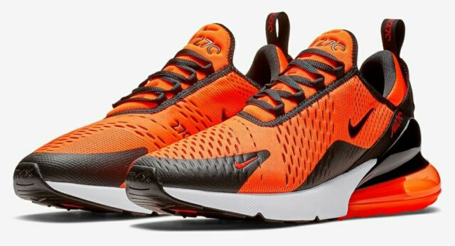 Nike Air Max 270 Mens Bv2517 800 Team Orange Black White Running