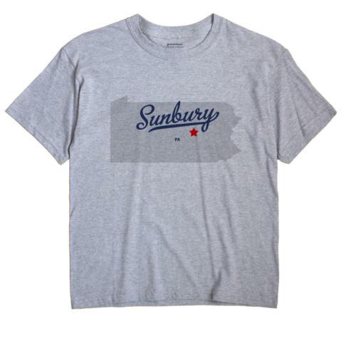Sunbury Pennsylvania PA T-Shirt Souvenir MAP