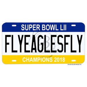 Super-Bowl-LII-Champions-2018-Philadelphia-Eagles-Fly-Eagles-Fly-License-Plate