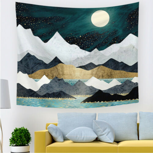 Mountain Forest Tapestry Sunset Tapestry Nature Landscape Wall Hanging for Decor