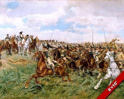 NAPOLEON BATTLE OF FRIEDLAND PAINTING MILITARY HISTORY WAR ART REAL CANVAS PRINT