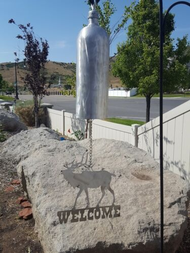Elk welcome sign Bell//wind chime wildlife outdoors hunting unique sound home dec