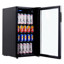 120 can beverage refrigerator beer wine soda drink cooler mini fridge glass door - Beer Merchandiser