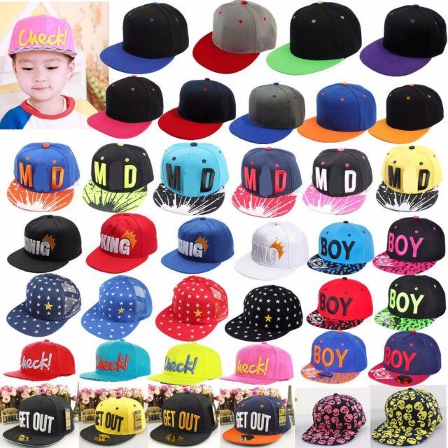 New Baby Boy Girl Kids Hip-hop Hat Peaked Visor Snapback Adjustable Baseball Cap
